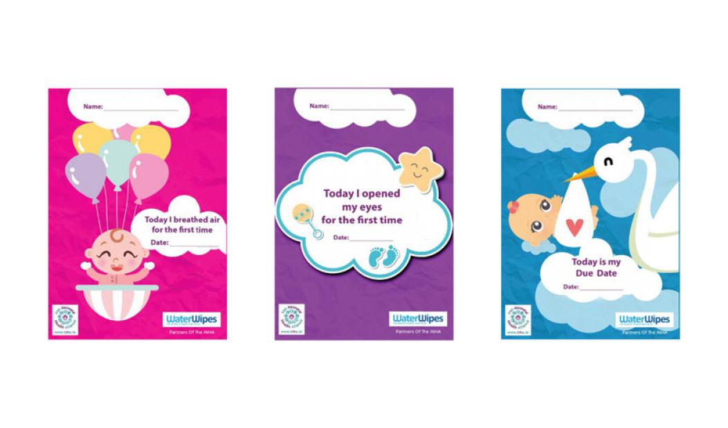Tarjetas de hitos neonatales de Bliss y WaterWipes