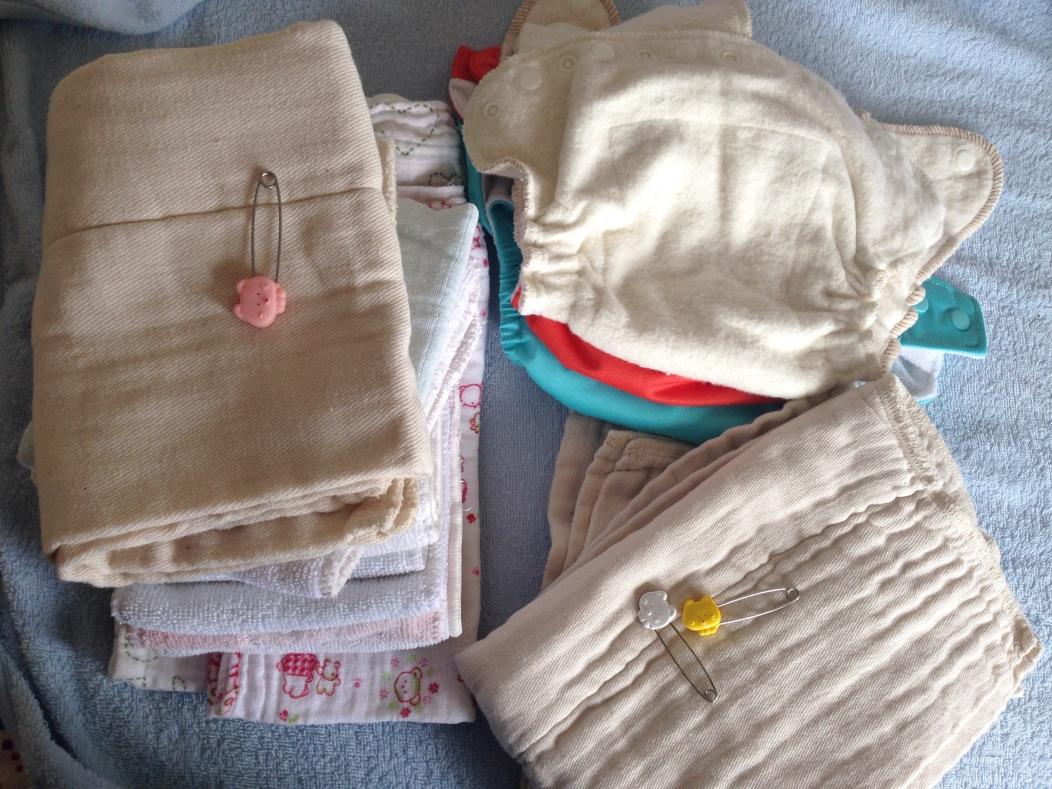 Pre-fold nappies.