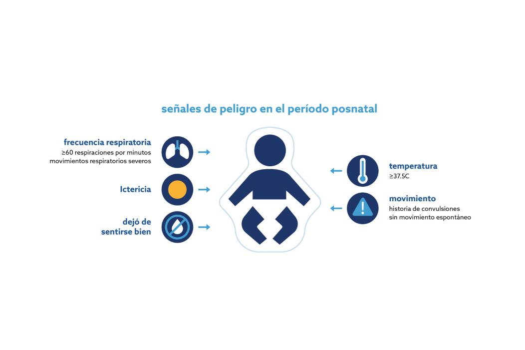 Las diferentes señales de peligro durante el período posnatal.