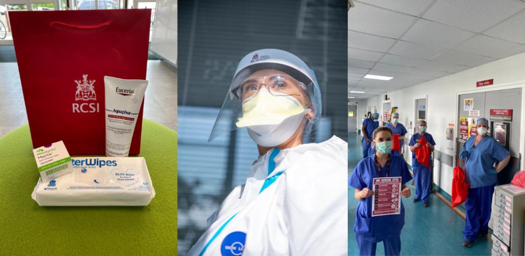 kit de cuidado, RSCI Natalie McEvoy PPE y trabajadores de primera línea
